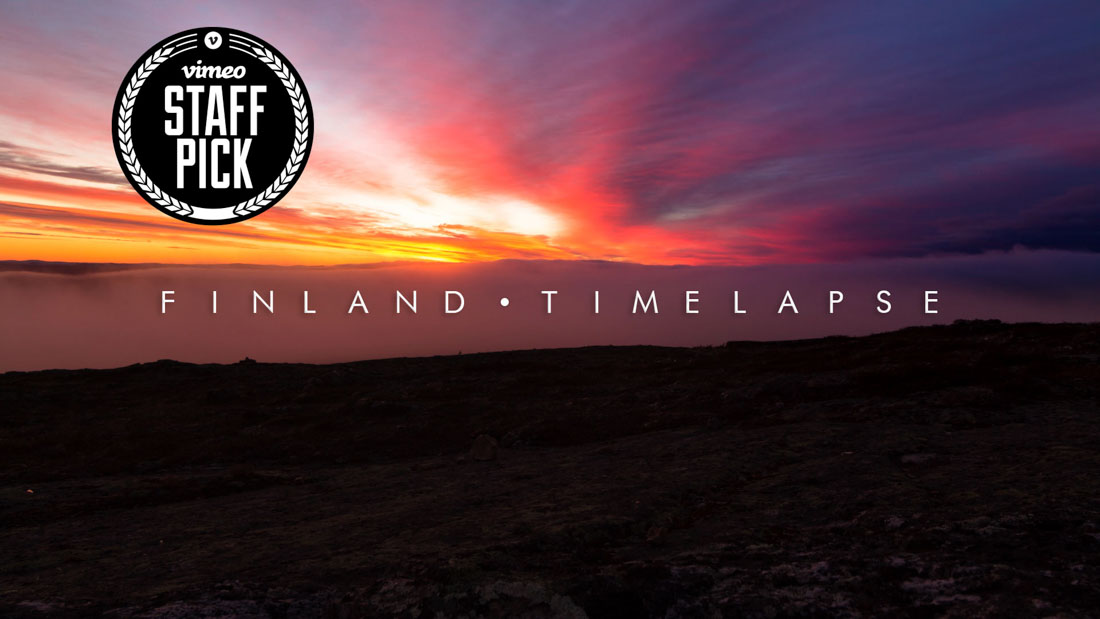 Video Portfolio Finland timelapse staff pick